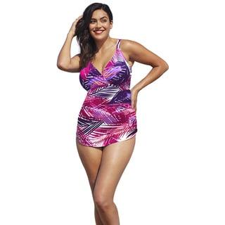 Shore Club Pitaya Plunge Sarong Front Swimsuit