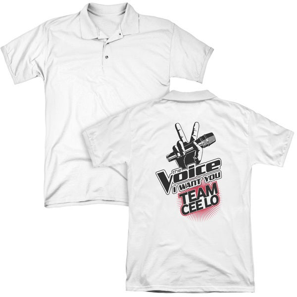 The Voice/Team Cee Lo (Back Print) Mens Regular Fit Polo in White