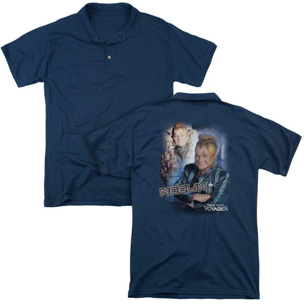 Star Trek/Neelix (Back Print) Mens Regular Fit Polo in Navy
