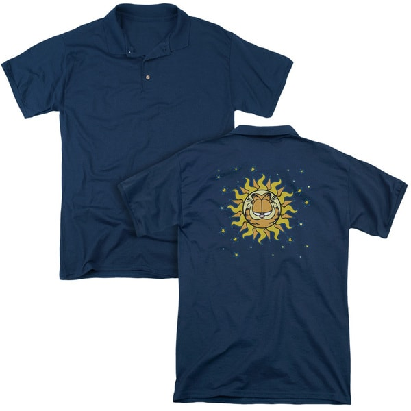 Garfield/Celestial (Back Print) Mens Regular Fit Polo in Navy