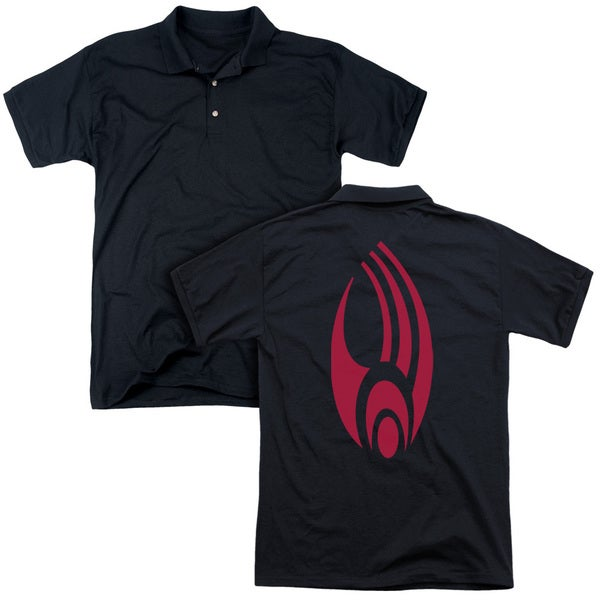 Star Trek/Borg Logo (Back Print) Mens Regular Fit Polo in Black