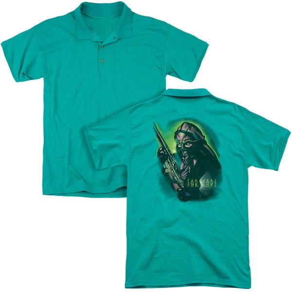 Farscape/D'Argo Warrior (Back Print) Mens Regular Fit Polo in Kelly Green