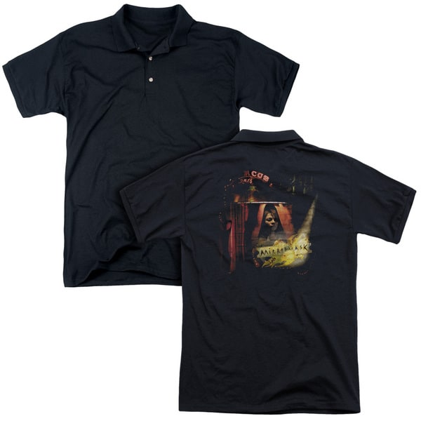 Mirrormask/Big Top Poster (Back Print) Mens Regular Fit Polo in Black