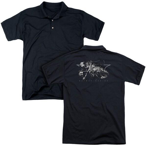 Batman Begins/Night Natives (Back Print) Mens Regular Fit Polo in Black