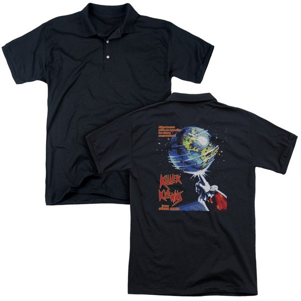Killer Klowns From Outer Space/Invaders (Back Print) Mens Regular Fit Polo in Black