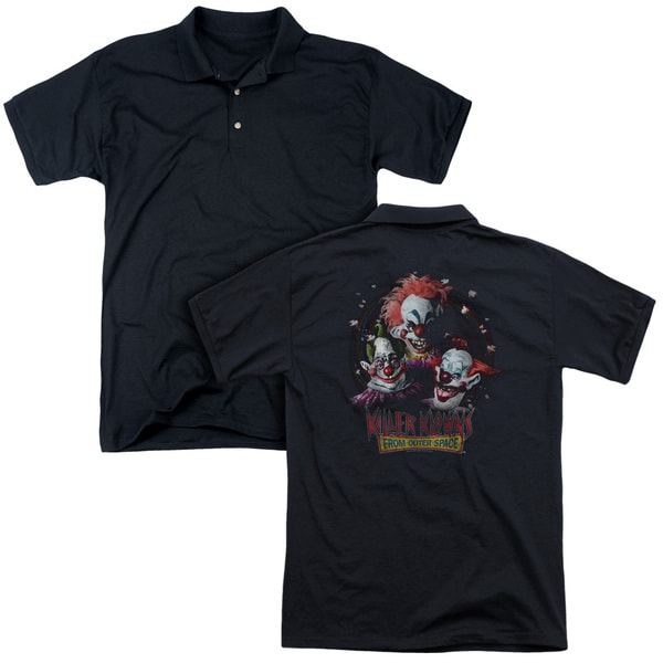 Killer Klowns From Outer Space/Killer Klowns (Back Print) Mens Regular Fit Polo in Black