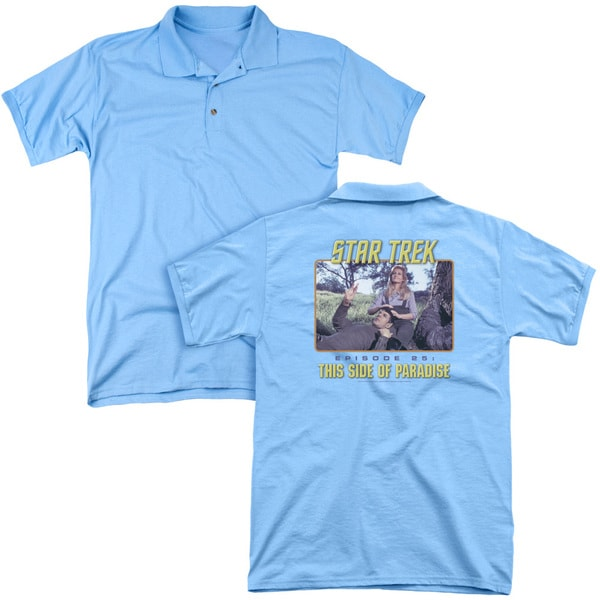 St Original/Episode 25 (Back Print) Mens Regular Fit Polo in Carolina Blue