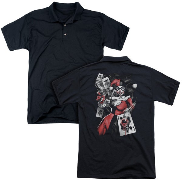 Batman/Smoking Gun (Back Print) Mens Regular Fit Polo in Black