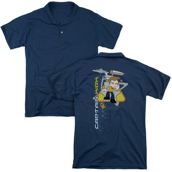 Quogs/Captain's Chair (Back Print) Mens Regular Fit Polo in Navy