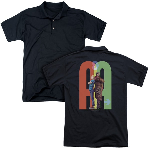 Archer & Armstrong/Back To Bak (Back Print) Mens Regular Fit Polo in Black