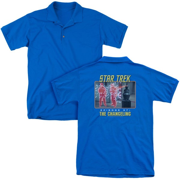 St Original/The Changeling (Back Print) Mens Regular Fit Polo in Royal