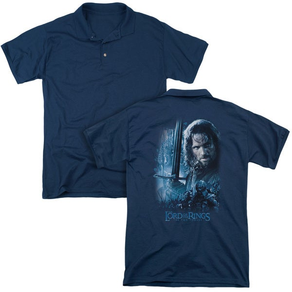 Lord Of The Rings/King in The Making (Back Print) Mens Regular Fit Polo in Navy