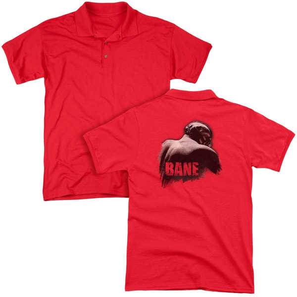 Dark Knight Rises/Bane Wash (Back Print) Mens Regular Fit Polo in Red