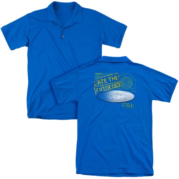 CSI/I Ate The Evidence (Back Print) Mens Regular Fit Polo in Royal