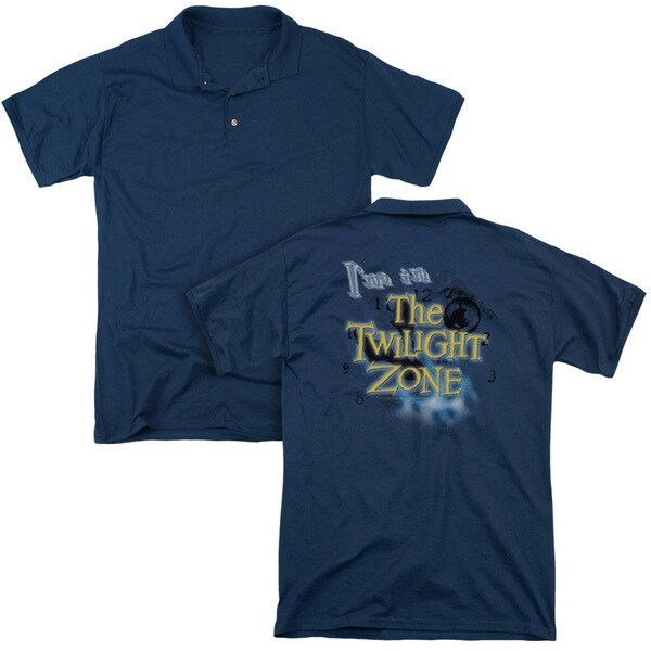 Twilight Zone/I'M in The Twilight Zone (Back Print) Mens Regular Fit Polo in Navy