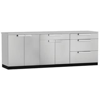 NewAge Products 96-inch x 24-inch 4-piece Outdoor Kitchen Cabinets