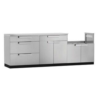 NewAge Products Aluminum/Stainless Steel 97-inch x 24-inch 4-piece Outdoor Kitchen Storage