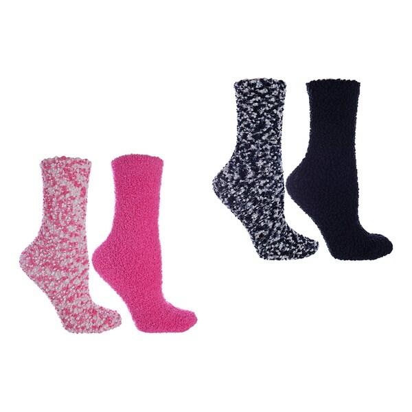 MinxNY Lavender and Argan Infused Popcorn Slipper Socks (4 Pair Bundle)