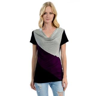Women's Colorblock Drape Top