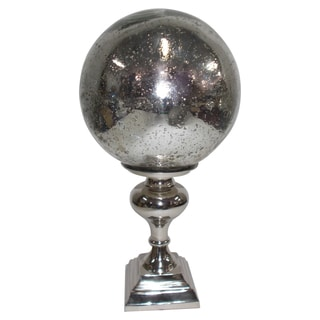 Decorative Glass Orb on Silver Stand