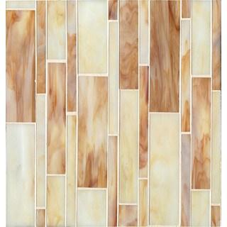 Bedrosians Linear Mosaic Butterscotch Glass Tile (Case of 11 Sheets)