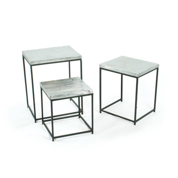 Tin Foil Nesting Tables