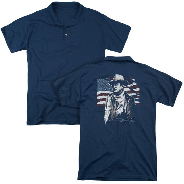 John Wayne/American Idol (Back Print) Mens Regular Fit Polo in Navy