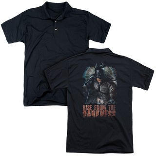 Dark Knight Rises/Rise From Darkness (Back Print) Mens Regular Fit Polo in Black
