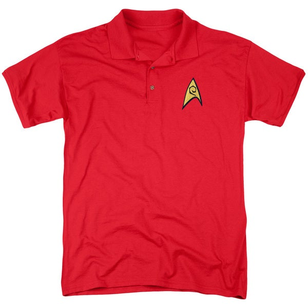 Star Trek/Engineering Patch Mens Regular Fit Polo in Red