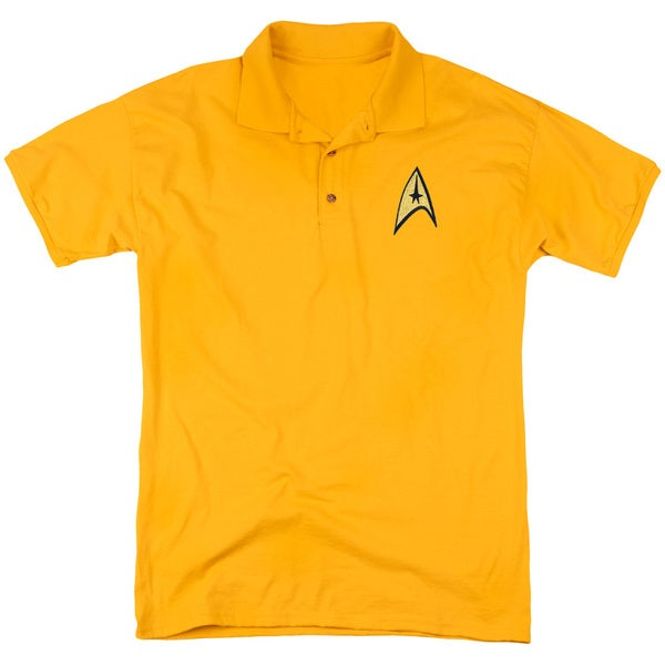 Star Trek/Command Patchmens Regular Fit Polo in Gold