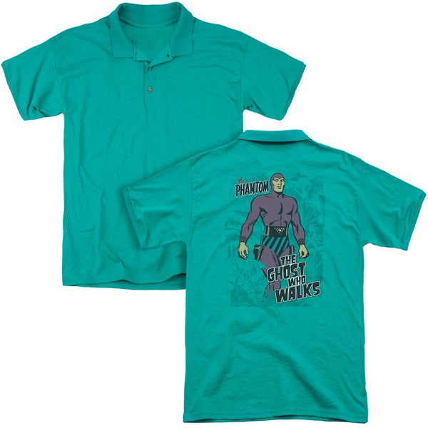 Hagar The Horrible/Ghost Who Walks (Back Print) Mens Regular Fit Polo in Kelly Green