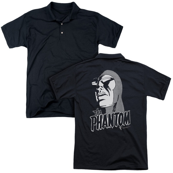 Phantom/Inked (Back Print) Mens Regular Fit Polo in Black