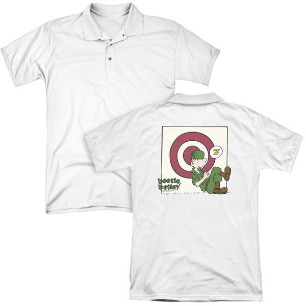 Beetle Bailey/Target Nap (Back Print) Mens Regular Fit Polo in White