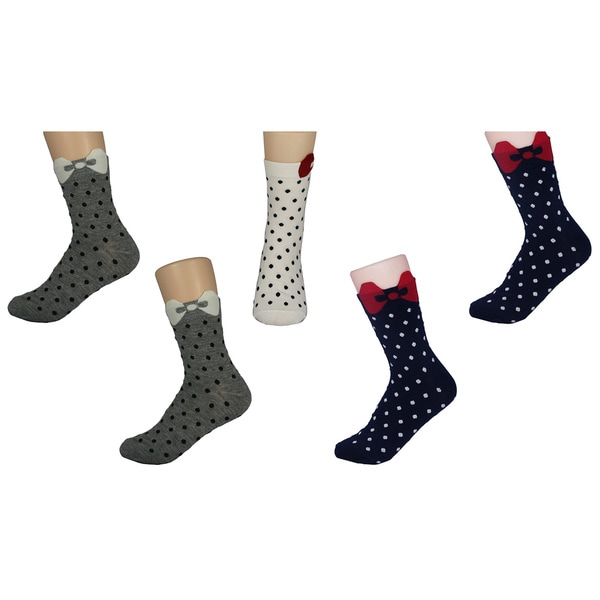 MinxNY Kid's 3D Little Bow Peek Socks (Pack of 5)