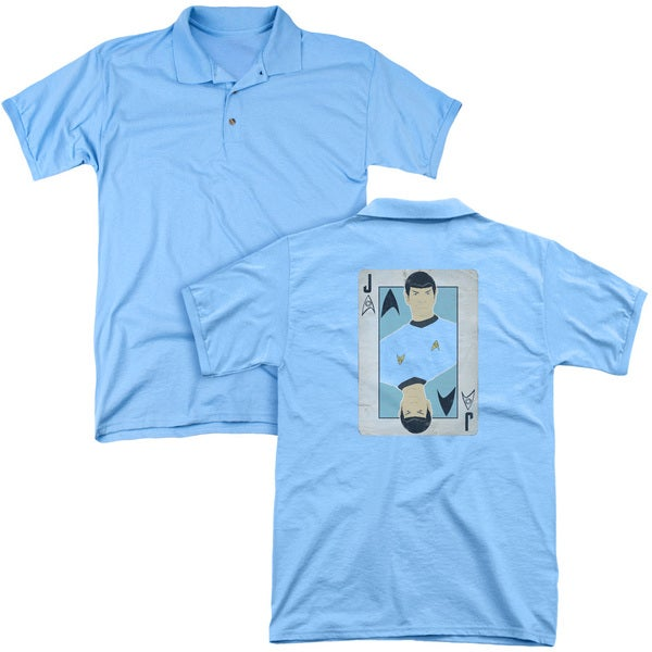 Star Trek/Tos Jack (Back Print) Mens Regular Fit Polo in Carolina Blue