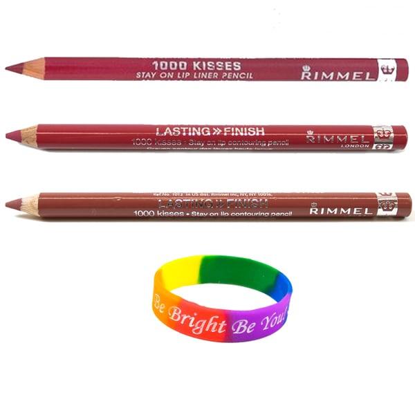 Rimmel London 1000 Kisses Lip Liner Set with Dimple Bracelet