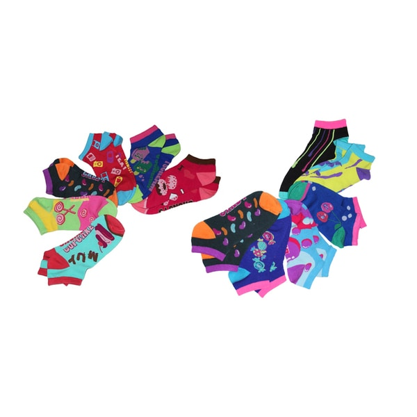 MinxNY Ladies' Mix-and-match Candy Pattern Socks (12 Pairs)