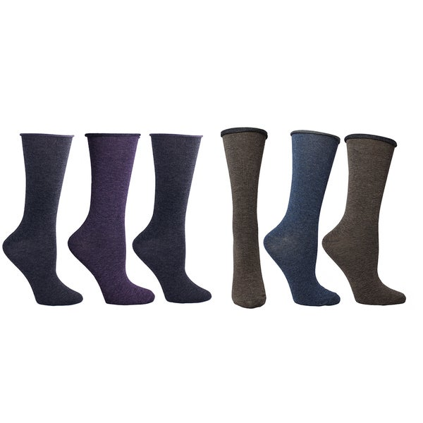MinxNY Super Soft Roll Top Socks (6 pairs)