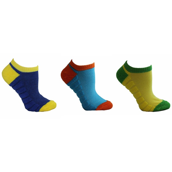 MinxNY Kids' Reversible Athletic Socks (Pack of 9)