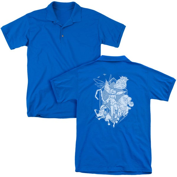 Rise Of The Guardians/Coming For You (Back Print) Mens Regular Fit Polo in Royal