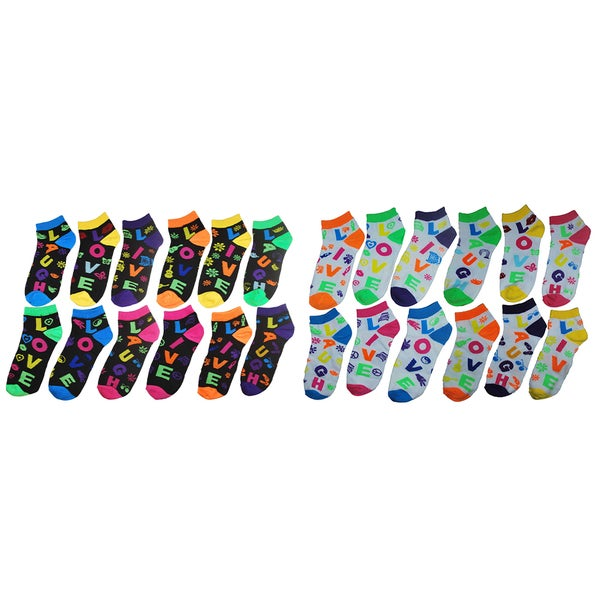 MINXNY Ladies Version 2 Mix and Match Socks (Pack of 12)