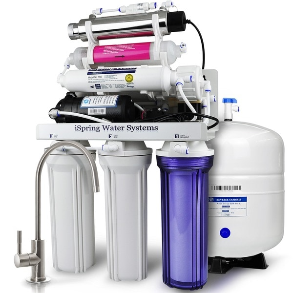 iSpring RCC1UP-AK 7-stage 100GPD Reverse Osmosis Water Filtration System 19134486