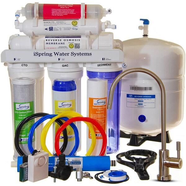 iSpring 6-station 75GPD Reverse Osmosis ALKALINE PH System #RCC7AK