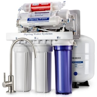 iSpring RCC7P-AK WQA Gold Seal 6-Stage 75-GPD Reverse-osmosis Water Filter System