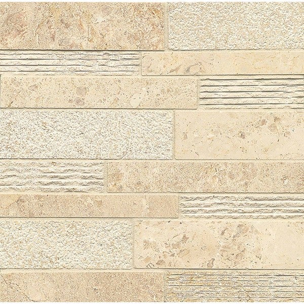 Camargo Venezia Random Linear Mosaic Stone Tile (Box Of 8 Sheets)