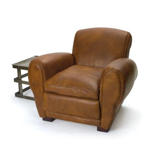 Hip Vintage Cabaret Brown Leather Chair