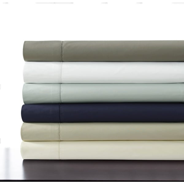 Tribeca Living 500-thread-count Cotton Percale Extra-deep Pocket Sheet Set with Oversized Flat