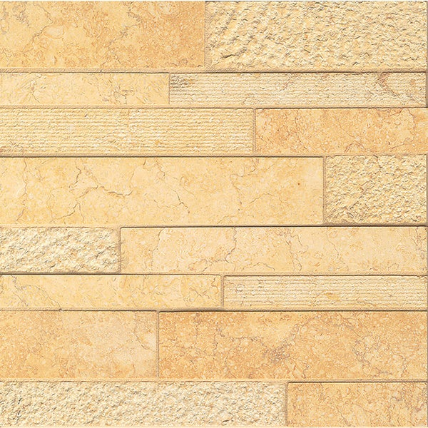 Ambre Stone Random Linear Mosaic Tile (Pack of 10 Sheets)
