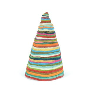 Hip Vintage Multicolored Natural Fibers 18-inch x 10-inch Christmas Tree
