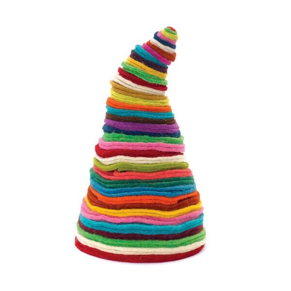 Hip Vintage Rainbow Natural Fiber Christmas Tree